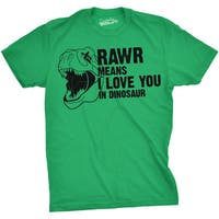Mens Rawr Means I Love You In Dinosaur Funny Dino Fans T shirt