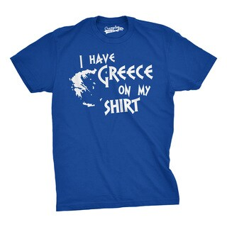 I Have Greece On My Shirt Funny Pun Geography Country Tee