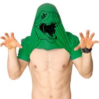 Mens Ask Me About My T-Rex T-Shirt Funny Cool Flip Up Dinosaur Trex Mask Shirt