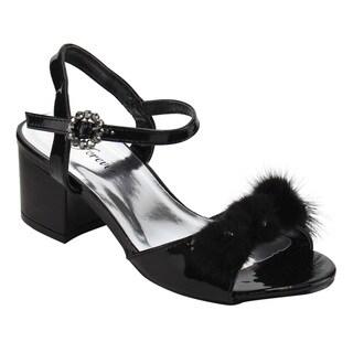 Forever IF78 Women's Rhinestone Ankle Strap Block Heel Dress Sandals