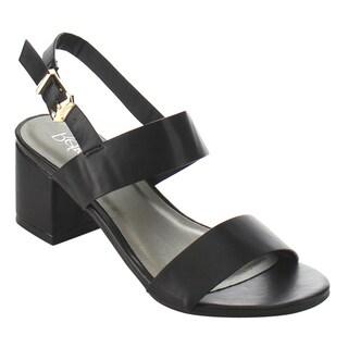 Refresh ID91 Women's Double Strap Sling Back Block Heel Dress Sandal