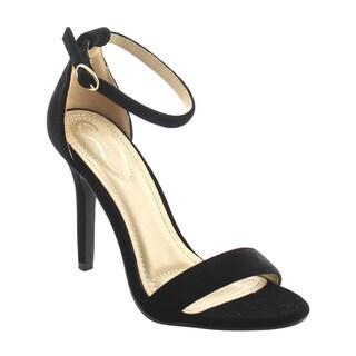 ELEGANT AG77 Women's Ankle Wrap Buckle Stiletto Heels Sandals