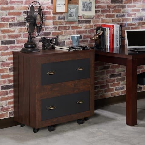 Furniture of America Rele Vintage Walnut 2-drawer File Cabinet