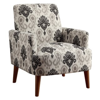 Furniture of America Learine Contemporary Upholstered Floral Print Accent Chair