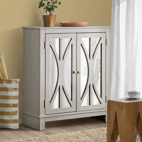 Furniture of America Ting Contemporary Grey 2-shelf Hallway Cabinet
