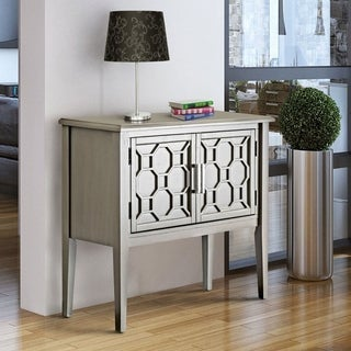 Furniture of America Gela Contemporary 2-shelf Grey Hallway Cabinet