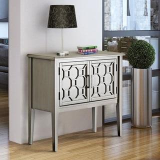 Furniture of America Gela Contemporary Grey Solid Wood 2-shelf Cabinet