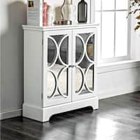 Furniture of America Tenecha Contemporary 3-shelf Grey Hallway Cabinet