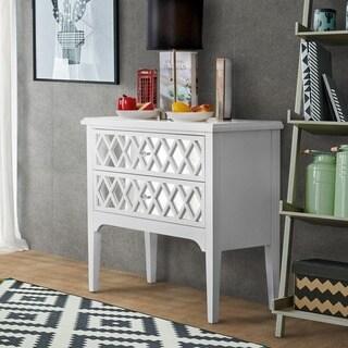 Furniture of America Merg Contemporary Mirrored Hallway Cabinet