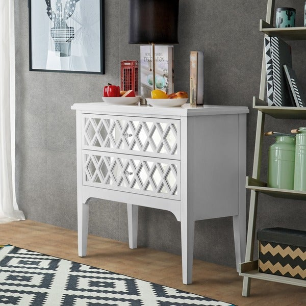 Attrayant Furniture Of America Feran Contemporary 2 Drawer Mirrored Hallway Cabinet