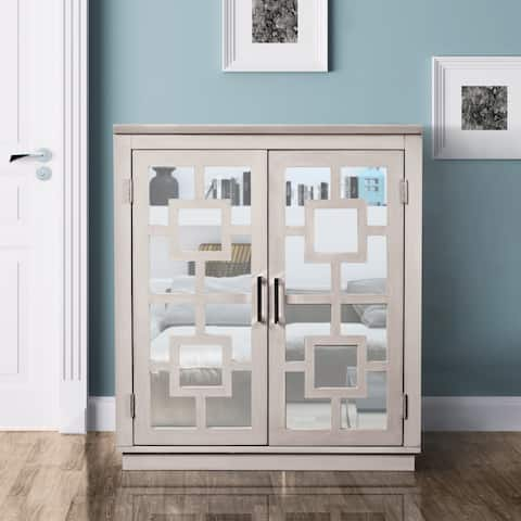 Furniture of America Razi Contemporary Grey 3-shelf Hallway Cabinet