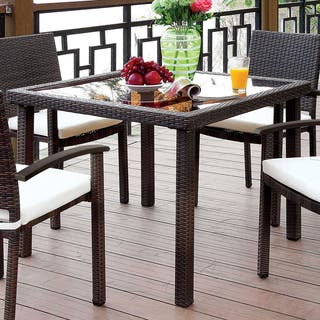 Furniture of America Honely Brown Outdoor Dining Table|https://ak1.ostkcdn.com/images/products/16184490/P22557712.jpg?impolicy=medium