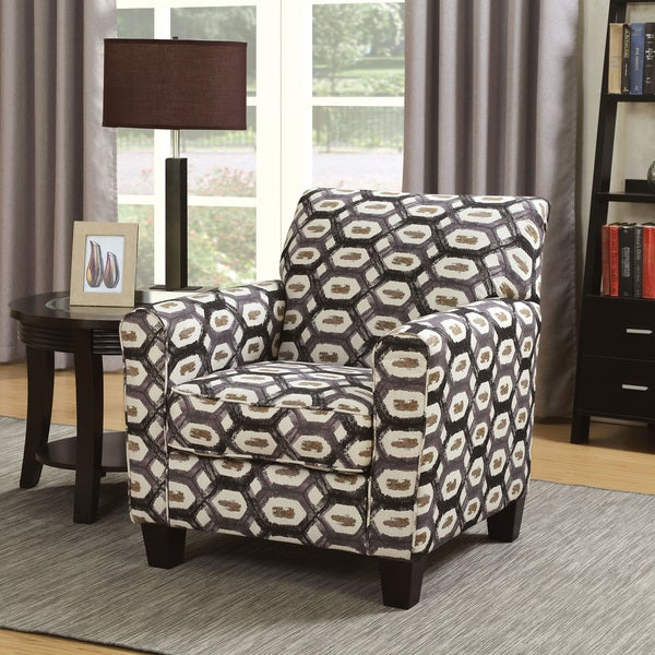 Furniture Of America Haverson Casual Hexagonal Print Fabric Multi Color  Accent Chair