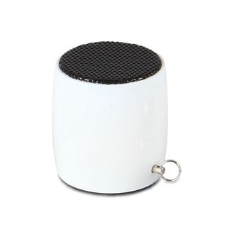 Insten White Micro Bluetooth Speaker with Keychain