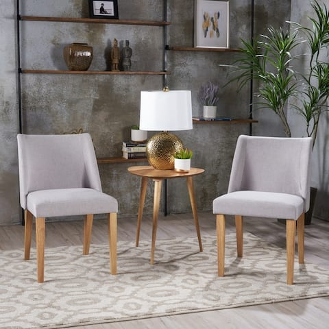 Regina Fabric Armless Side Chair (Set of 2) by Christopher Knight Home