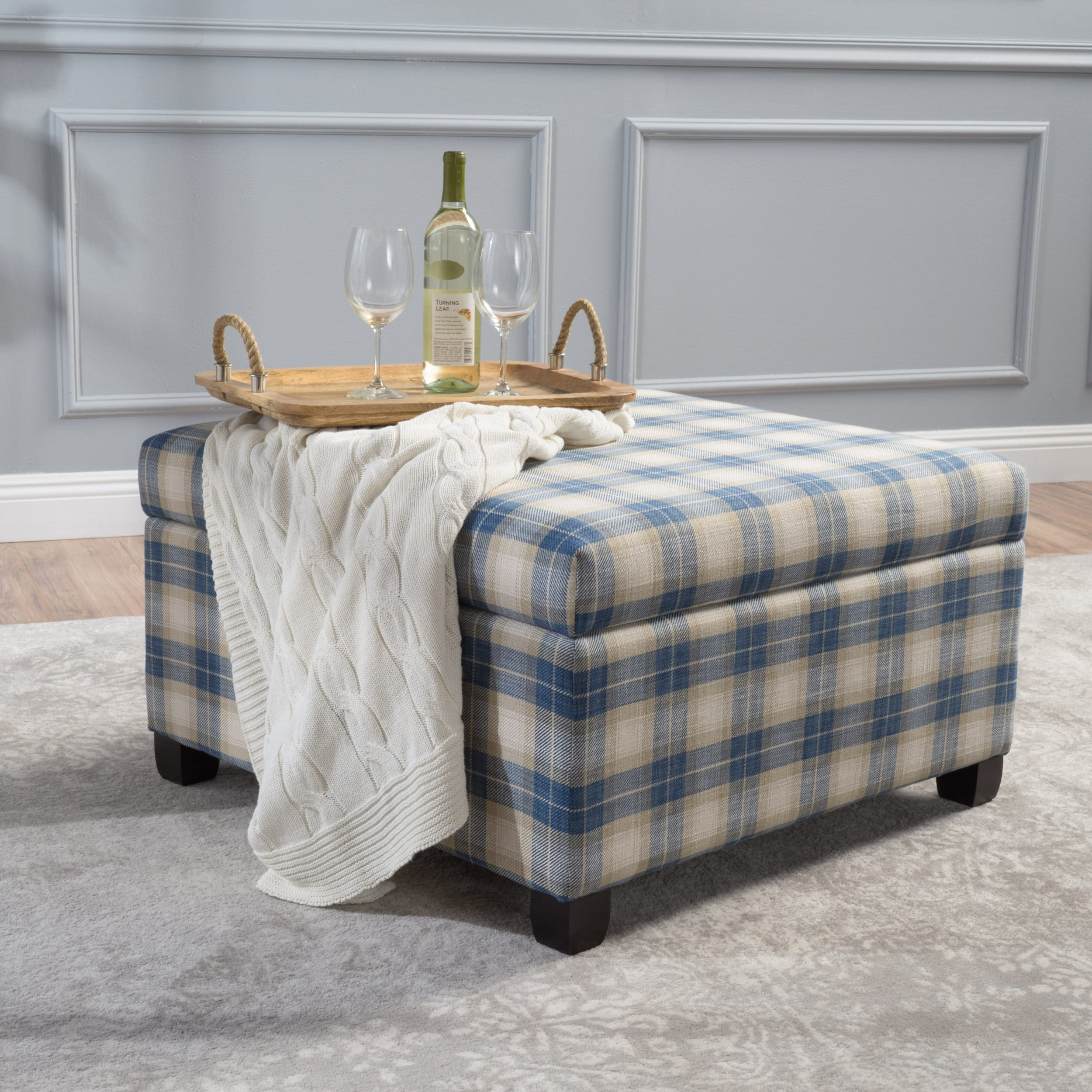 Prime Matteo Plaid Pattern Fabric Square Storage Ottoman Bench By Christopher Knight Home Machost Co Dining Chair Design Ideas Machostcouk