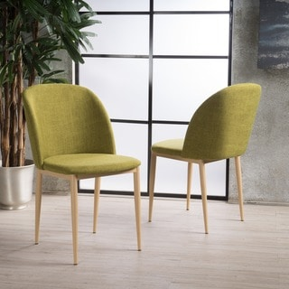 Anneliese Mid-Century Fabric Dining Chair (Set of 2) by Christopher Knight Home