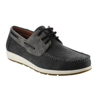 Arider AG63 Men's Moc Toe Boat Shoes Lace Up Casual Oxfords