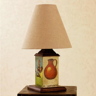 Handcrafted Decoupage 'Loteria' Table Lamp (Mexico)