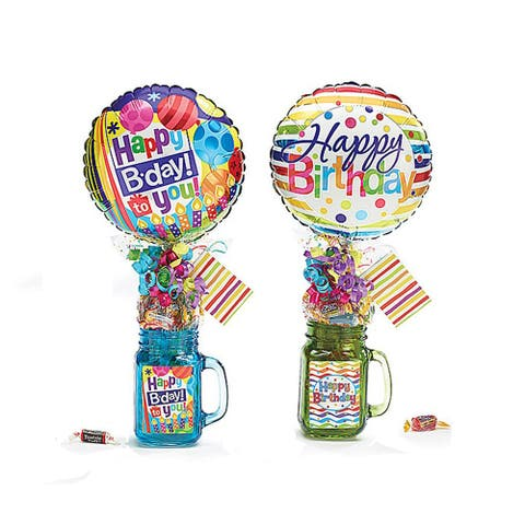 Happy Birthday Mason Jars Set