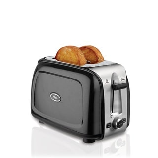Oster 2-Slice Toaster, Metallic Black