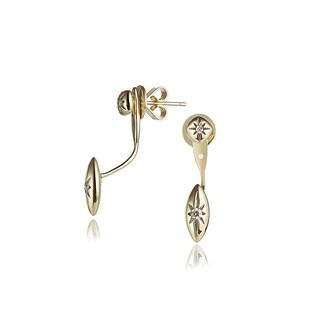 Diamond Jacket Earrings in 14k Yellow Gold (0.12cts)
