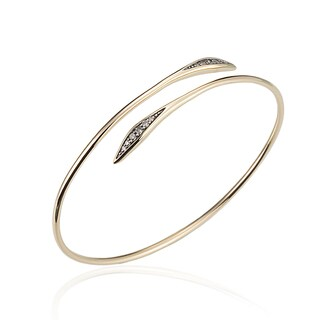 Diamond Bypass Bracelet in 14k Yellow Gold (0.18cts)