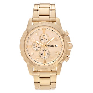 Fossil Men's FS4867 'Dean' Goldtone Stainless Steel Chronograph Dial Link Bracelet Watch