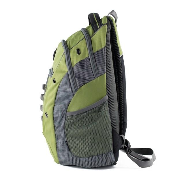 "Green Swissgear Granite 16/"" Laptop Backpack with Tablet Pocket"