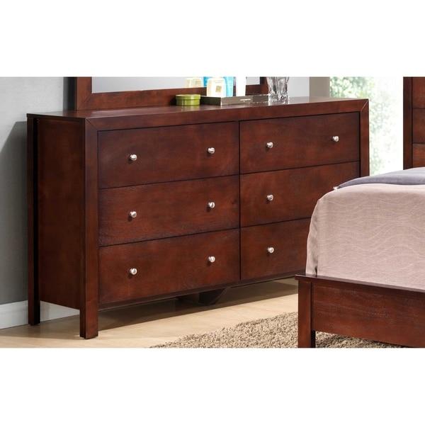 shop lyke home cherry 6 drawer dresser on sale free shipping today overstock 16197001. Black Bedroom Furniture Sets. Home Design Ideas