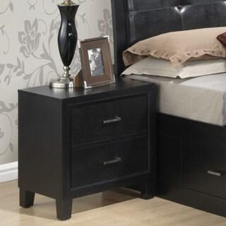 LYKE Home Wood 2-drawer Nightstand (Painted - Black)