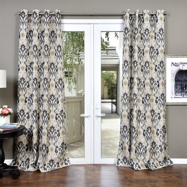 Lambrequin Ankara Textured Heavy Jacquard Curtain Panel