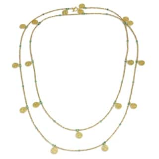 Gold Plated Chalcedony Waterfall Necklace, 'Golden Rain' (Thailand)|https://ak1.ostkcdn.com/images/products/16197078/P22569005.jpg?impolicy=medium