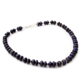 Lapis Lazuli Strand Necklace, 'Mystic' (India)