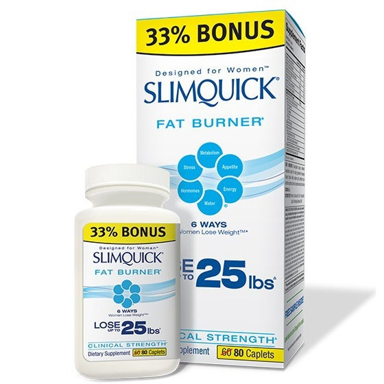 SlimQuick Fat Burner Clinical Strength (80 Capsules)
