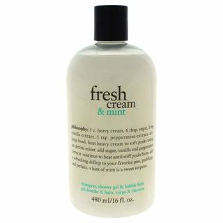 Philosophy 16-ounce Fresh Cream & Mint Shampoo, Shower Gel & Bubble Bath
