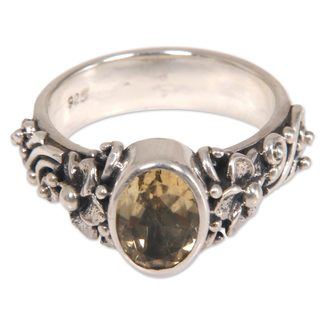 Handcrafted Sterling Silver 'Wayside Flower' Citrine Ring (Indonesia)