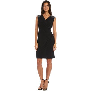 R&M Richards Black Sleeveless Dress