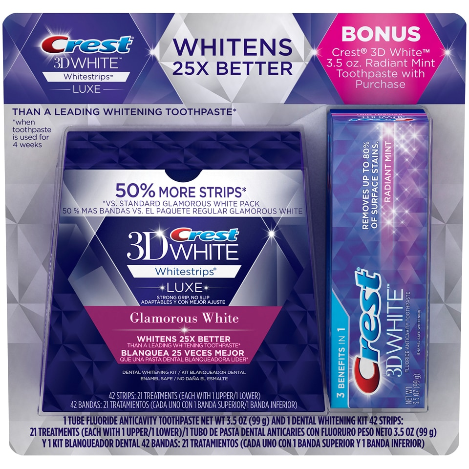Shop Crest 3d Whitestrips Luxe Glamorous White 42 Strips With
