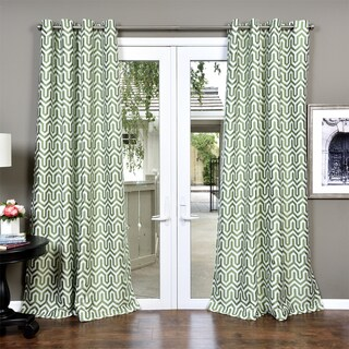 Lambrequin Kenya Heavy Jacquard Lined Curtain Panel (3 options available)