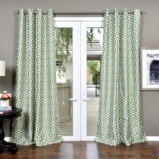 Lambrequin Kenya Heavy Jacquard Lined Curtain Panel