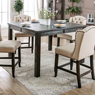 Furniture of America Telara Contemporary Antique Black 54-inch Counter Height Dining Table