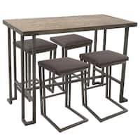 Roman 5-Piece Industrial Counter Height Dining Set