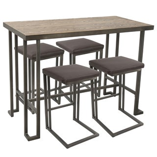 Roman Industrial Counter Height 5-piece Dining Set