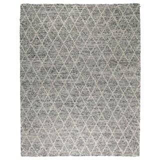 Kosas Home Handwoven Diamond Looped Wool Rug (9' x 12')