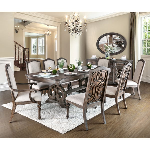 Furniture Of America Dianne Scrolled Mirrored Multi Storage Rustic Natural  Tone Dining Server   Free Shipping Today   Overstock.com   22569210