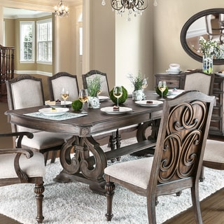 Furniture of America Cese Rustic Brown Solid Wood Dining Table - Natural