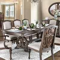 Furniture of America Dianne Farmhouse Rustic Natural Dining Table