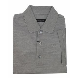 Ermenegildo Zegna Men's Grey 100% Silk Polo