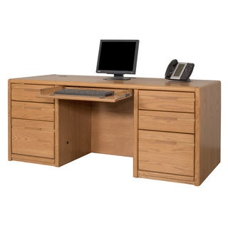 Cardiff Double Pedestal Wood Finish Executive Desk